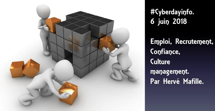 #Cyberdayinfo. Eléments de réflexions et perpectives. Emploi, Recrutement, Confiance, Culture management. Par Hervé Mafille.