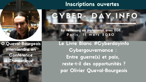 Olivier Queval-Bourgeois interviendra en conférence thématique. Venez échanger ensemble