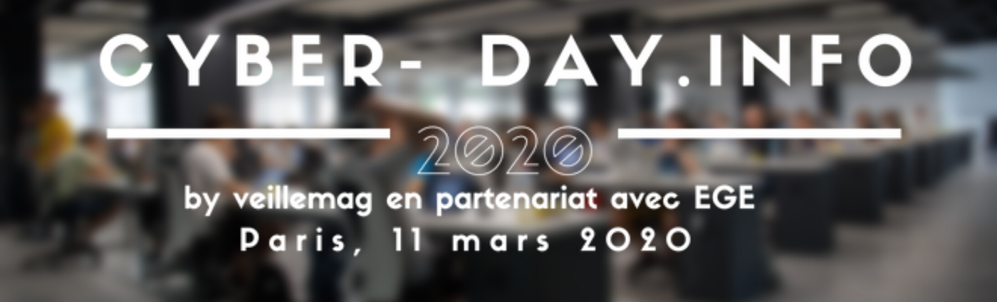 Save the date. Cyber-day.info. Mercredi 11 mars 2020. 3ème Edition. #cyberday - Partenariat E.G.E.