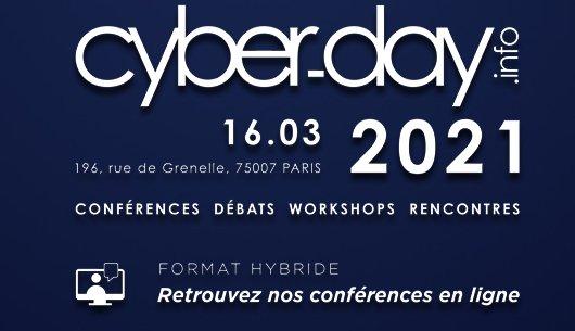 #Cyberdayinfo 16 MARS 2021. L'innovation cyber au sens propre. Tout le programme Conférences. Débats. Worshops