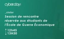 Session de rencontre réservée aux étudiants de l'Ecole de Guerre Economique